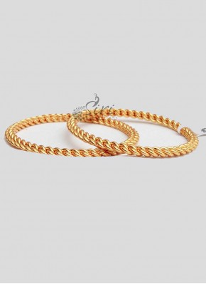 Elegant Gold Plated Pair of Bangles