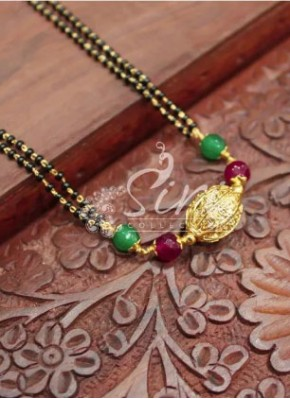 Elegant  Mangalsutra in Gold Plated and Multi Colour Balls