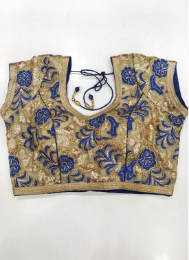 Embroidery and Sequins Work Stitched Padded Blouse