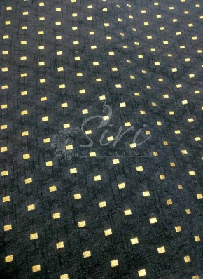 Fancy Banarasi Jacquard Fabric in Black Per Meter