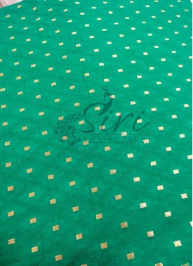 Fancy Banarasi Jacquard Fabric in Rama Green Per Meter