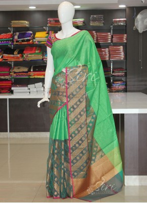 Fancy Banarasi Kora Saree in Tanchoi Weave