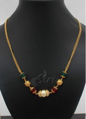 Fancy Beads Fashion Jewellery Chain Necklace