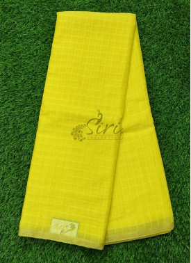 Fancy Chiffon Saree in self vertical lines with gold Piping Border