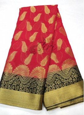 Fancy Georgette Saree in Gold Zari
