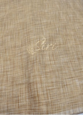 Fancy Khadi Fabric Per Meter in Gold Jute Colour