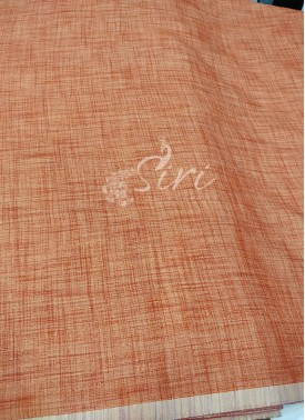 Fancy Khadi Fabric Per Meter in Pastel Peach Orange