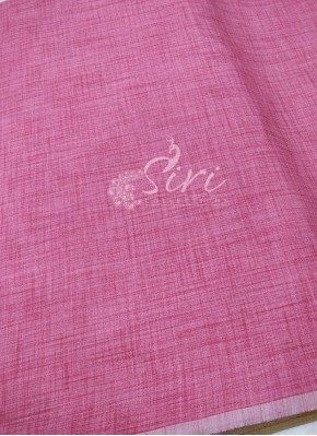 Fancy Khadi Fabric Per Meter in Pink