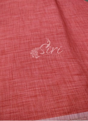 Fancy Khadi Fabric Per Meter in Reddish Peach
