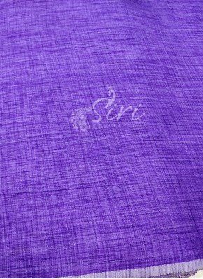 Fancy Khadi Fabric Per Meter in Violet