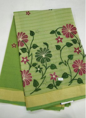 Fancy Kota Saree in Embroidery Work