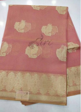 Fancy Kota Saree in Peach