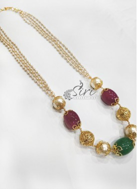 Fancy Pearls Beads Fashion Jewellery Chain Necklac