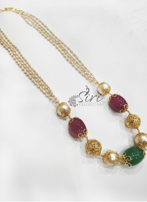 Fancy Pearls Beads Fashion Jewellery Chain Necklace