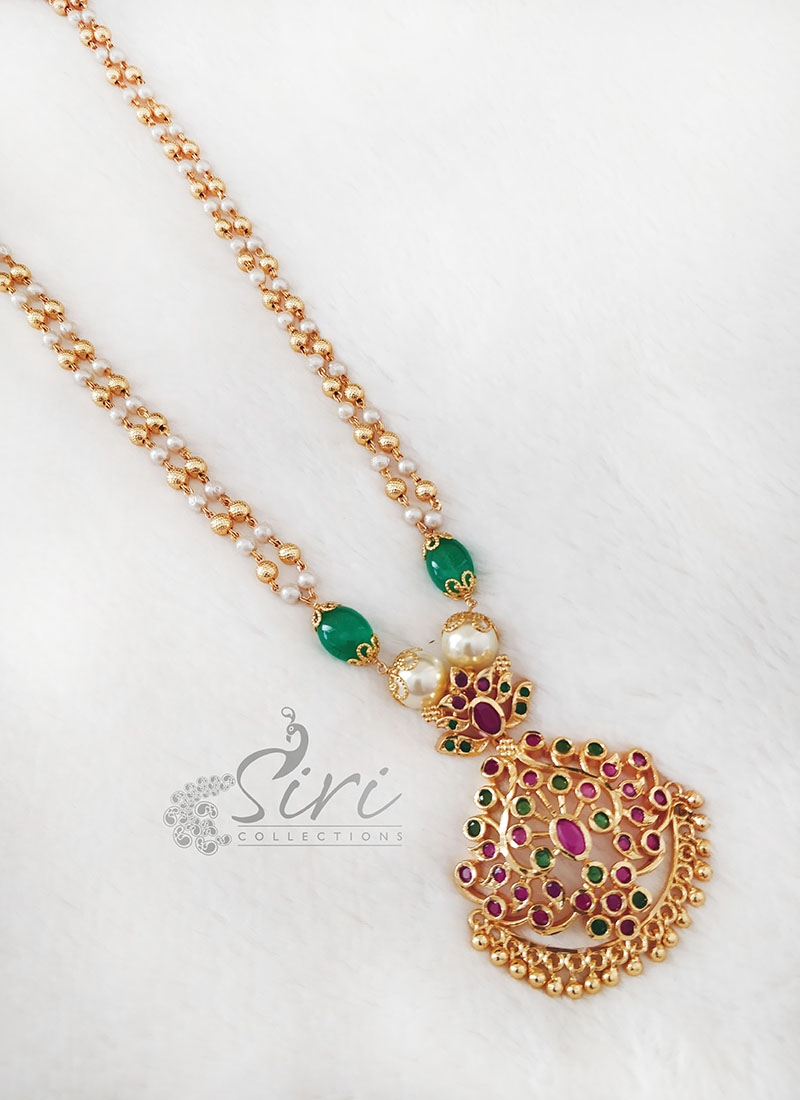 Fancy Pearls Beads Fashion Jewellery Chain Necklace with Pendant