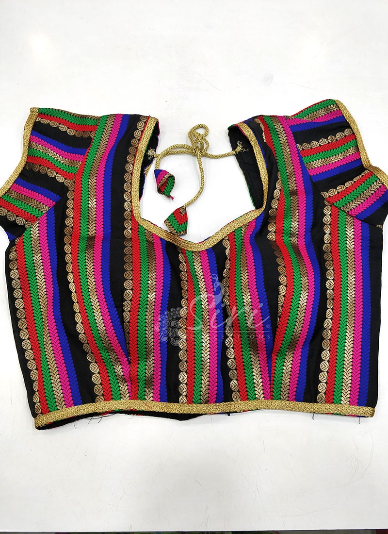 Fancy Silk Padded Stitched Blouse