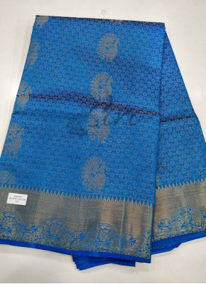 Fancy Silk Saree in Peacock Butis