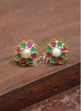Fashionable Multi AD Stone Studs