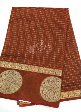 Festive Cotton Silk Saree in Traditional Motif Border and Rich Pallu