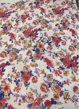 Floral Design Digital Print Chinon Crepe Fabric Pe