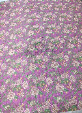 Floral Digital Print Fancy Jute Linen Fabric per Meter