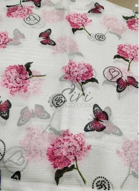 Floral Digital Print Fancy Kora Fabric Per Meter