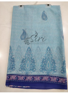 Garden Vareli Lentus Saree With Pallu and Border