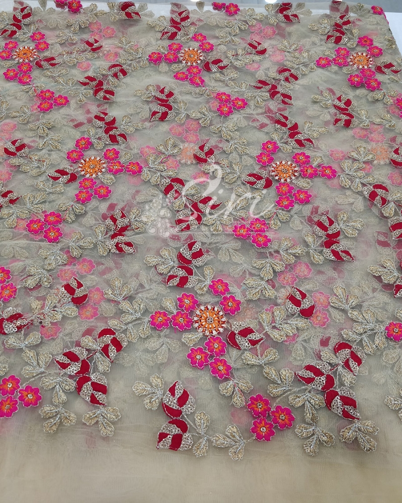 Gold Net Fabric in Embroidery Work Per Meter