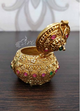 Gold Plated Kumkum Bharina