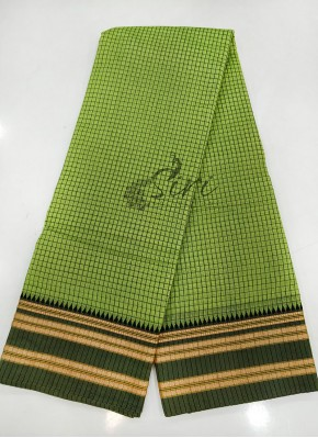 Green Black Narayanpet Cotton Saree
