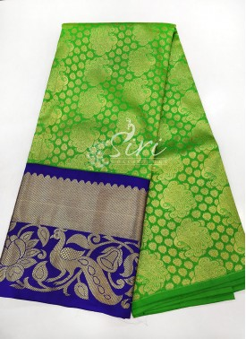 Green Blue Kanchi Pattu Pavada Set