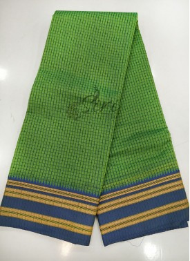 Green Blue Narayanpet Cotton Saree
