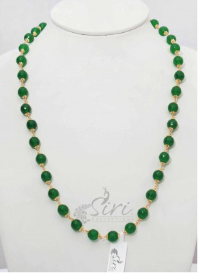 Green Colour Onyx Maala