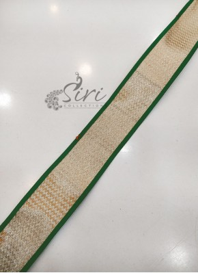 Green Dull Antique Gold Fancy Lace Border