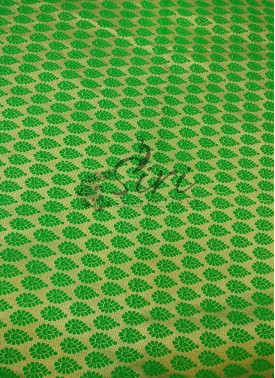 Green Gold Fancy Jacquard Fabric By Meter