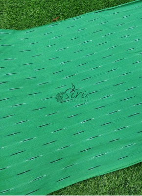 Green Ikat Cotton Fabric Per Meter