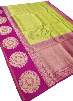 Green Magenta Fancy Banarasi Silk Saree