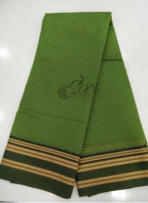 Green Narayanpet Cotton Saree