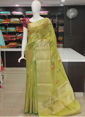 Green Pure Cotton Silk Saree