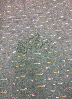 Grey Ikat Cotton Fabric Per Meter
