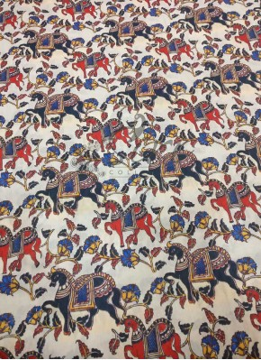 Horse Design Muslin Fabric in Digital Print Per Meter