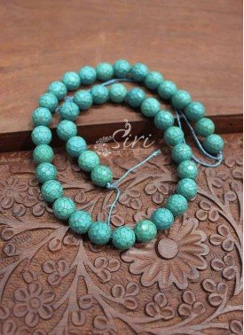 Imported Fancy Cut Turquoise Beads String