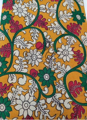Kalamkari Screen Print Cotton Fabric