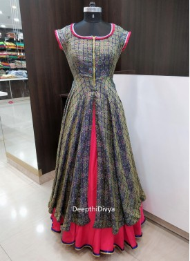 Lehenga with Slit Designer Frock Top