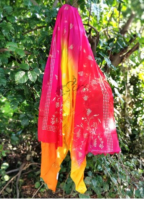 Lovely 4D Pure Chinon Crepe Dupatta in Foil Print