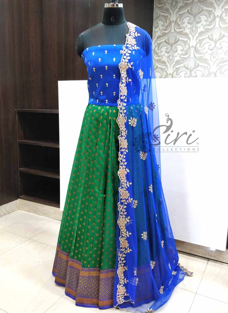 Lovely Banarasi Silk Lehenga Fabric with Raw Silk Blouse and Cut Work Dupatta