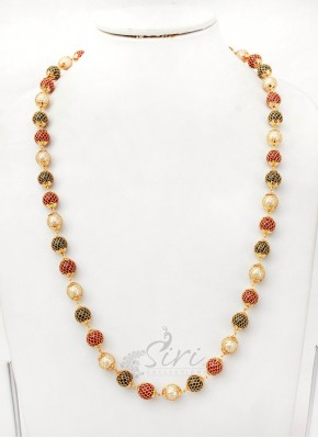 Lovely Chain in Mesh Around the Beads