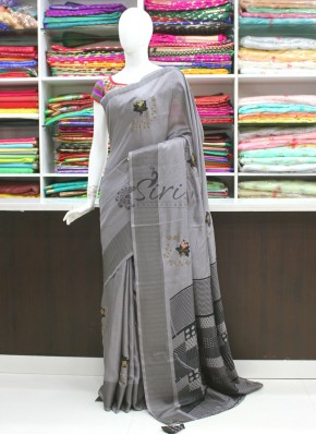 Lovely Designer Fancy Saree In Applique and Stone Work