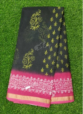 Lovely Elegant Printed Kota Cotton Saree
