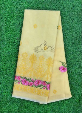 Lovely Fancy Kota Saree in Embroidery Work